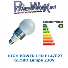 LED BULB LEUCHTE GLOBO 5W HIGHPOWER LED E14 120 Grad WARMWEIß