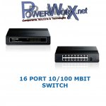 High Speed Netzwerk HUB Switch 16 Port TP-Link TL-SF1016D 10/100 MBit Ethernet