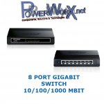 GIGABIT Netzwerk HUB Switch 8 Port TP-Link TL-SG1008D 10/100/1000 MBit Ethernet