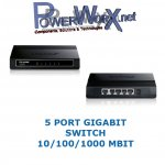 GIGABIT Netzwerk HUB Switch 5 Port TP-Link TL-SG1005D 10/100/1000 MBit Ethernet