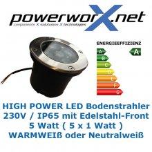 LED BODENSTRAHLER 5W Bodenleuchte Einbaustrahler IP65 Lampe
